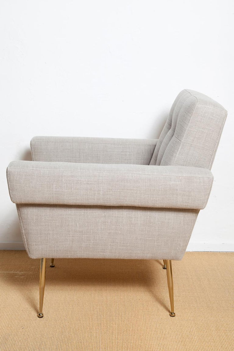American Stripe's Own Custom Milano Lounge Chairs For Sale