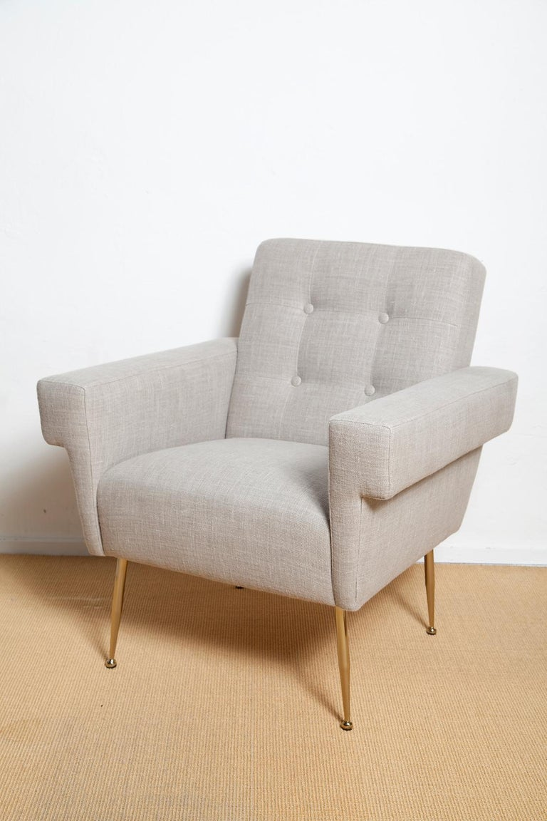 Mid-Century Modern Stripe's Own Custom Milano Lounge Chairs For Sale