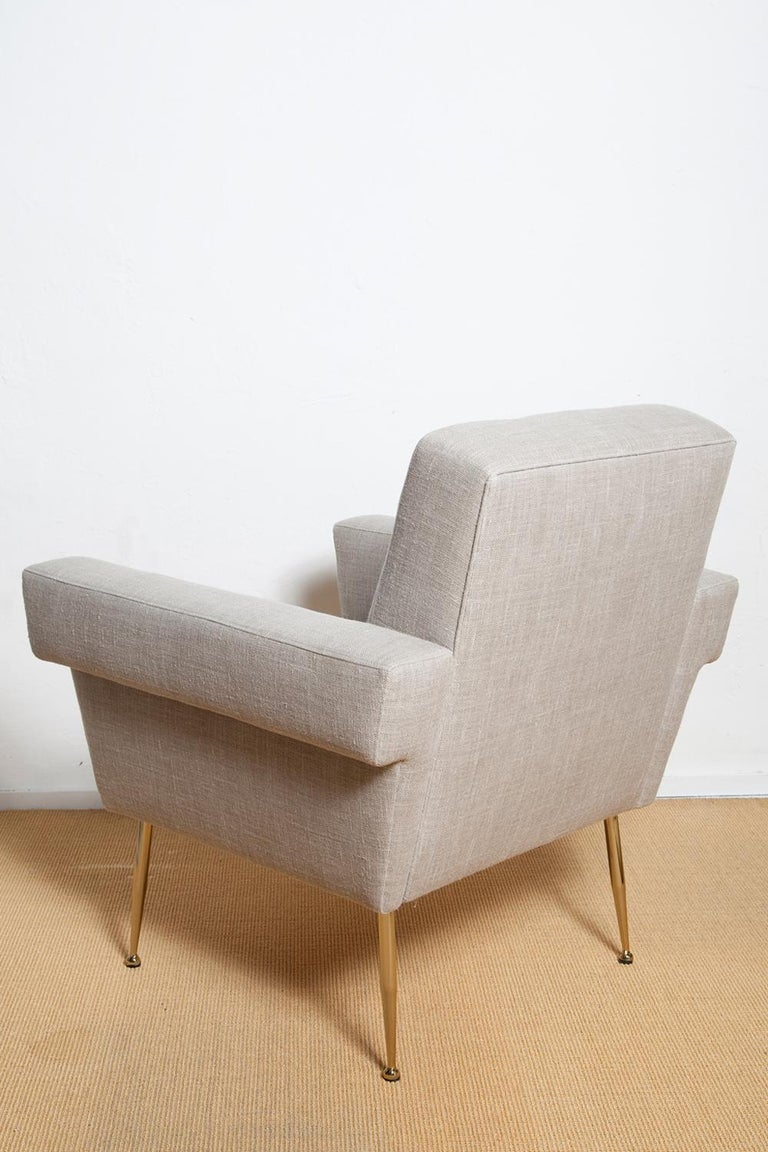 Stripe's Own Custom Milano Lounge Chairs In Excellent Condition For Sale In North Miami, FL