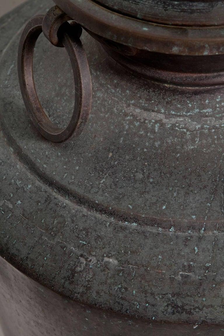 Giant Bronze Lidded Vessel For Sale 5