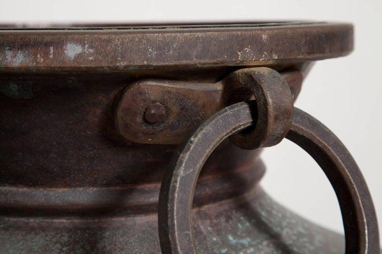 Giant Bronze Lidded Vessel For Sale 7