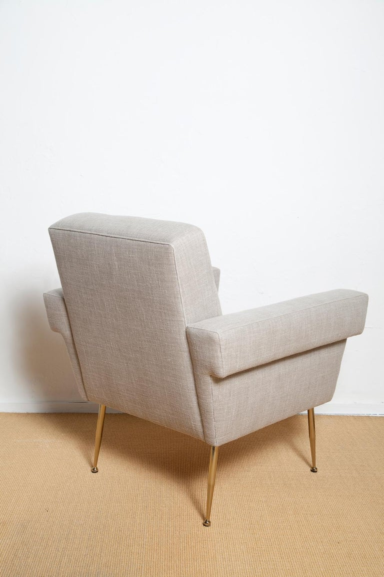Brass Stripe's Own Custom Milano Lounge Chairs For Sale