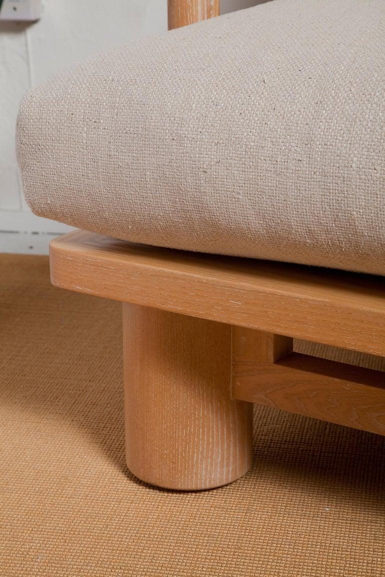 Pair of Karl Springer Cerused Oak Dowelwood Chairs For Sale 1