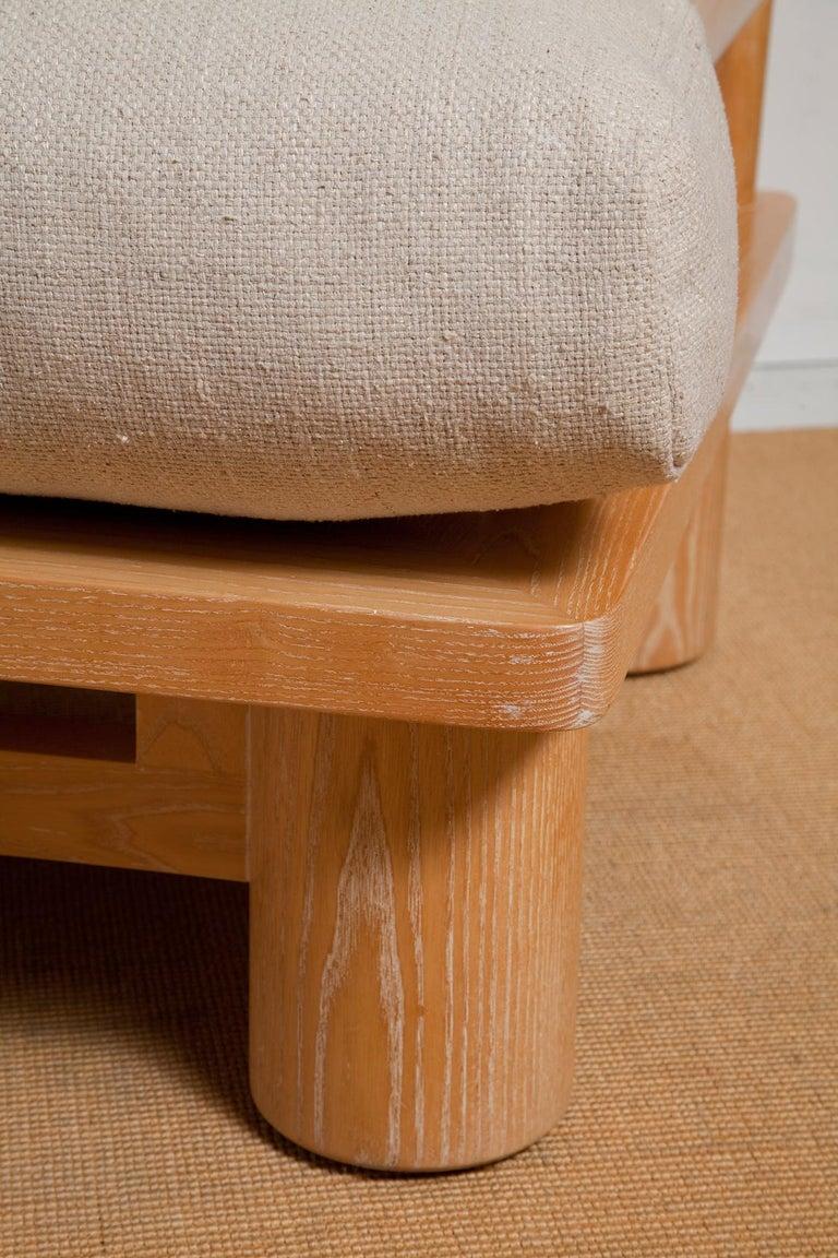 Pair of Karl Springer Cerused Oak Dowelwood Chairs For Sale 2