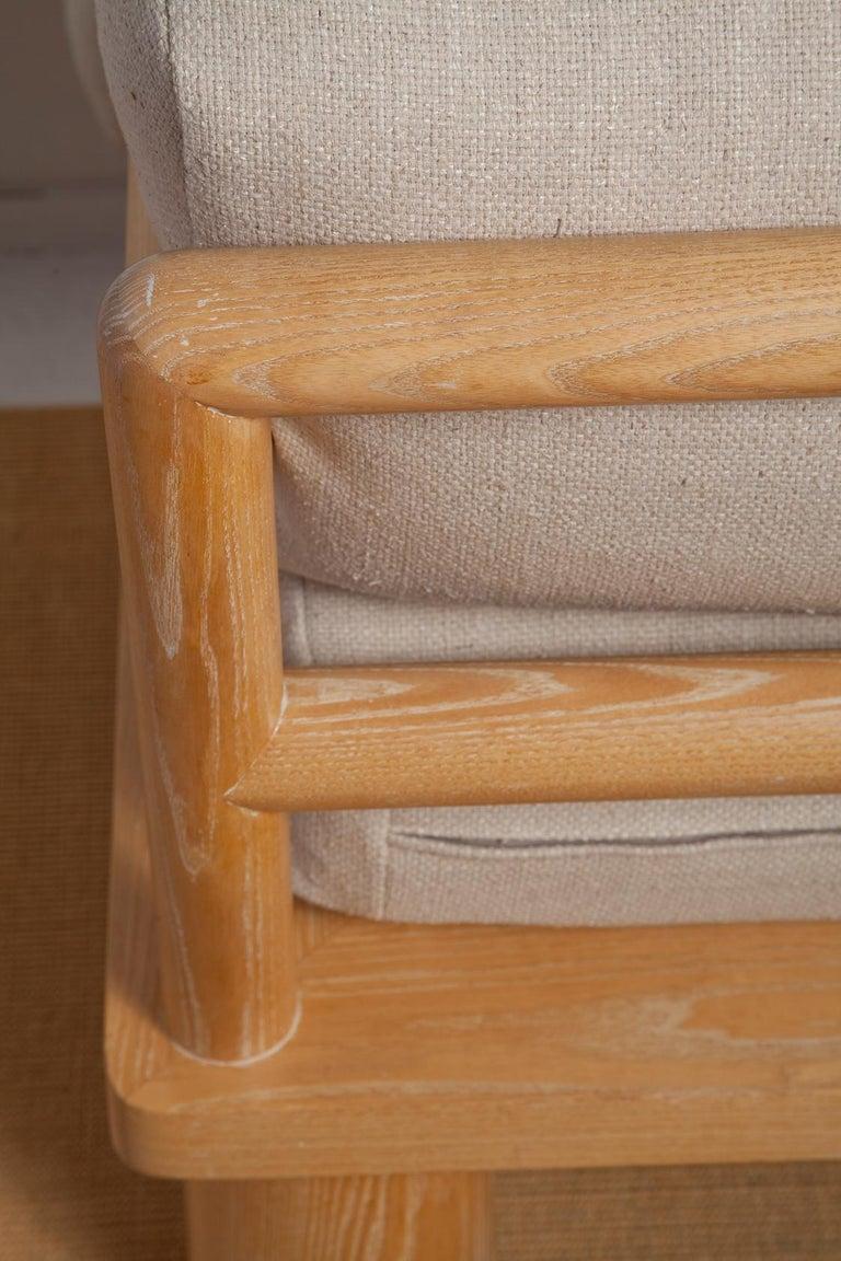 Pair of Karl Springer Cerused Oak Dowelwood Chairs For Sale 3