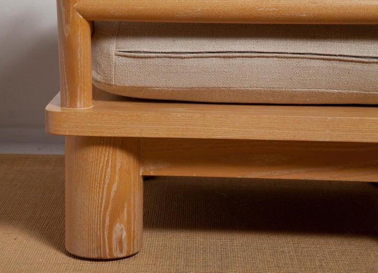 Pair of Karl Springer Cerused Oak Dowelwood Chairs For Sale 5