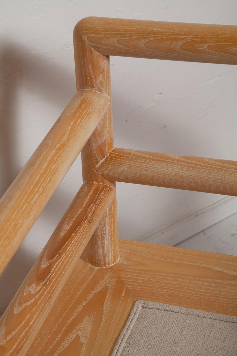 Pair of Karl Springer Cerused Oak Dowelwood Chairs For Sale 9