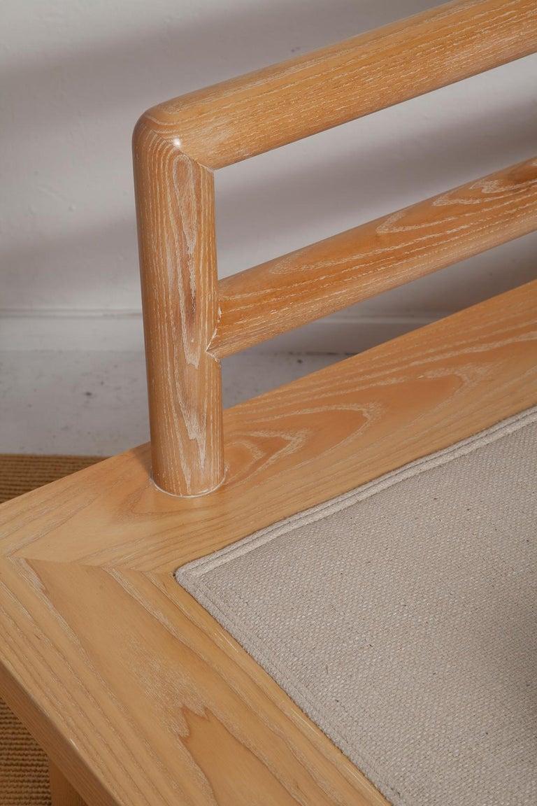 Pair of Karl Springer Cerused Oak Dowelwood Chairs For Sale 11