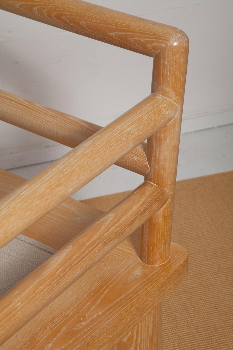 Pair of Karl Springer Cerused Oak Dowelwood Chairs For Sale 10