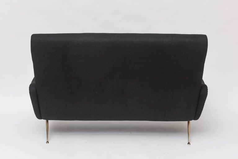 Bronze Custom 1950s Italian Inspired Settee For Sale