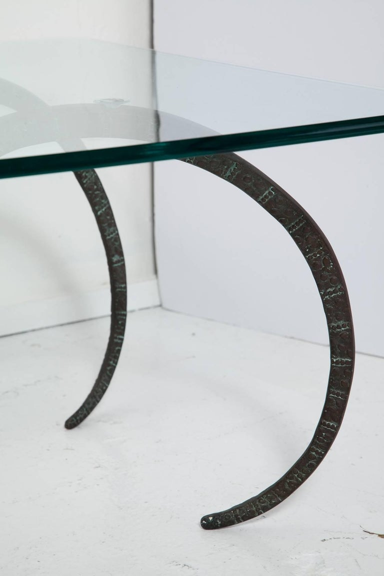 Patinated Bronze Ibex Coffee Table in the Manner of Alain Chervet For Sale 3