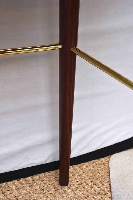 Modernist Walter Charak Macassar Ebony, Mahogany and Brass Desk Midcentury For Sale 1