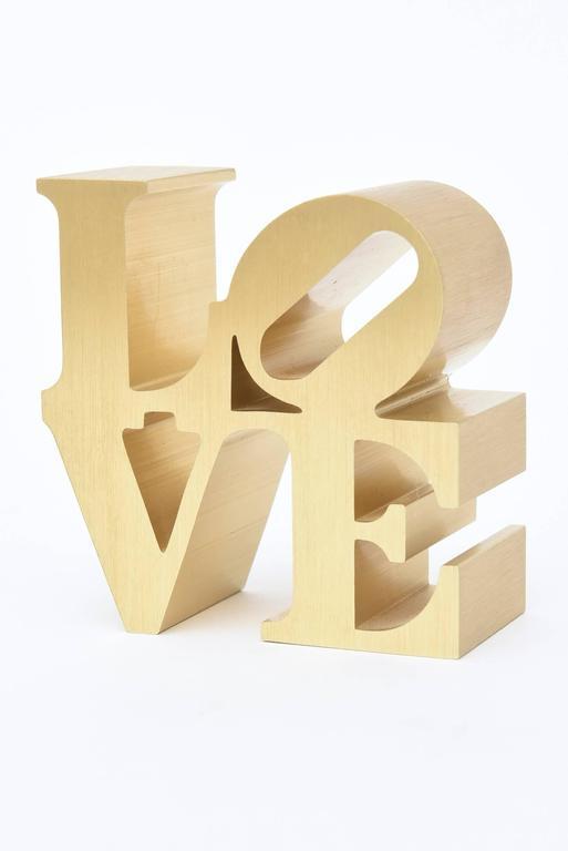 Robert Indiana Love Sculpture Paperweight At 1stdibs