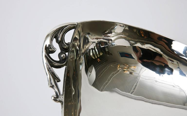 Mid-20th Century Sterling Silver Bowl by C. Zurita Mid-Century Modern For Sale