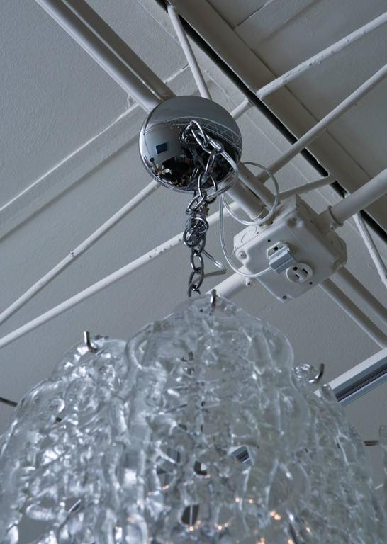 Italian Murano Mazzega Glass Pretzel Pendant Chandelier For Sale 1