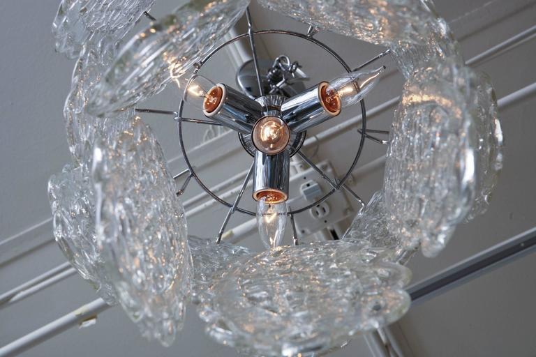 Italian Murano Mazzega Glass Pretzel Pendant Chandelier For Sale 3