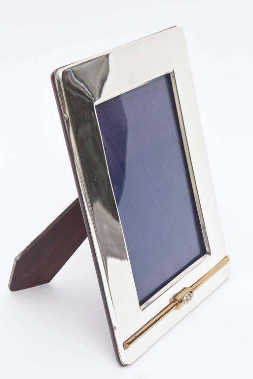 Modern Gucci Silver Plate and 24-Carat Gold-Plated Picture Frame For Sale