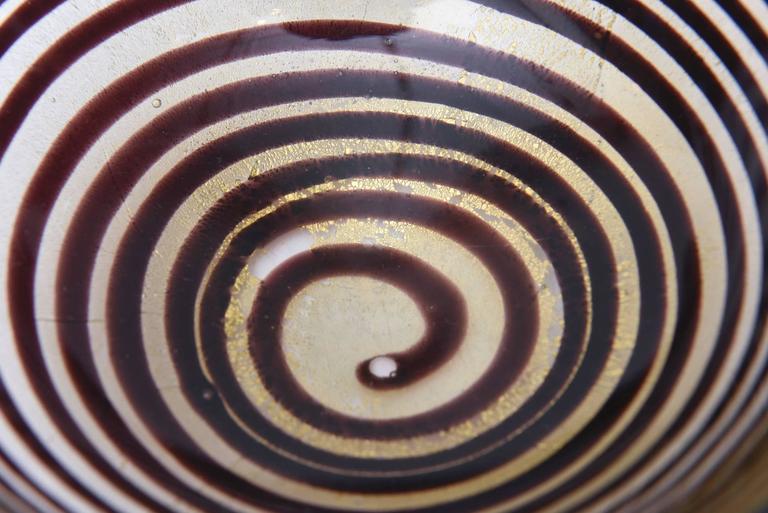Murano Seguso Zebratti Spiral Optical Glass Bowl For Sale 2