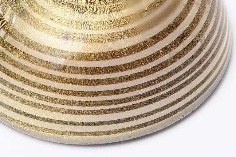 Murano Seguso Zebratti Spiral Optical Glass Bowl For Sale 4