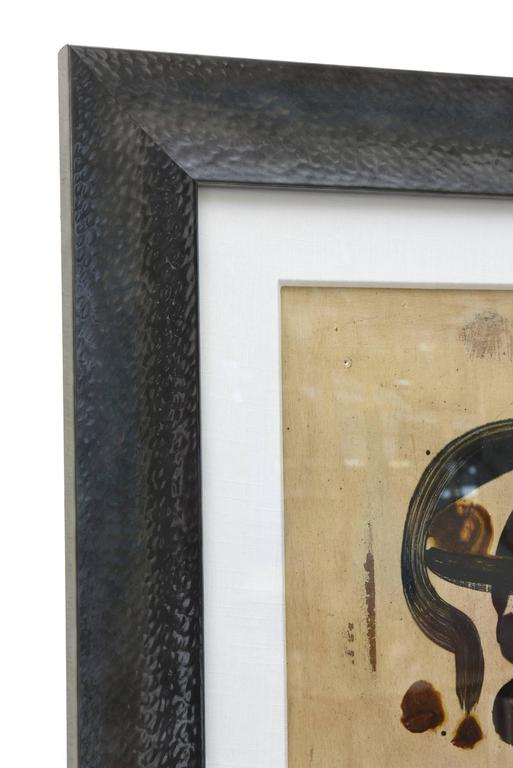 Mid-Century Modern Peter Keil Oil on Board Abstract Painting Custom Framed Signed 1960s For Sale