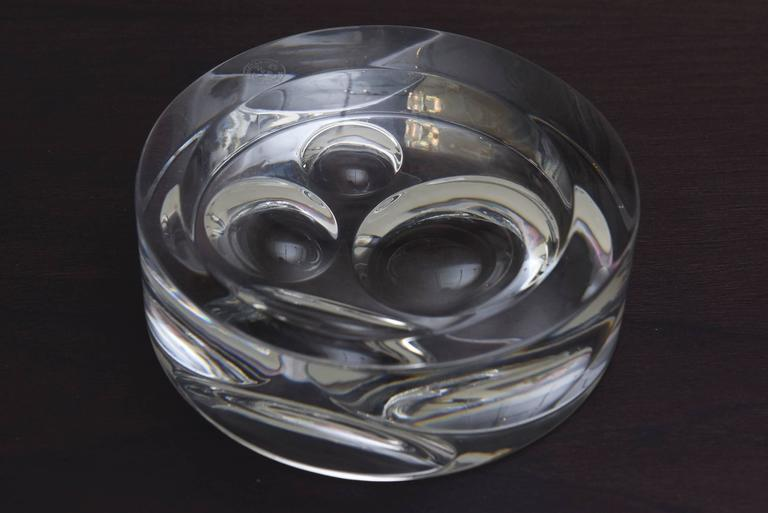 Vintage Baccarat Crystal Glass Sculptural Paperweight or Desk Accessory For Sale 2