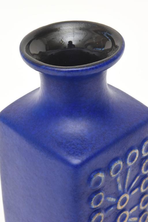 Ceramic Glazed Vase or Vessel Midcentury Modernist For Sale 1