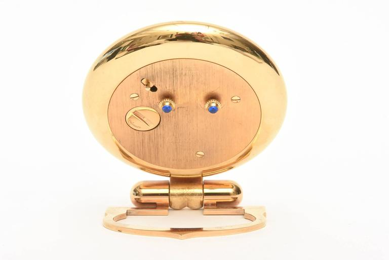 French  Cartier 24-Karat Gold-Plated Travel, Desk or Nightstand Quartz Clock / SAT.SALE For Sale