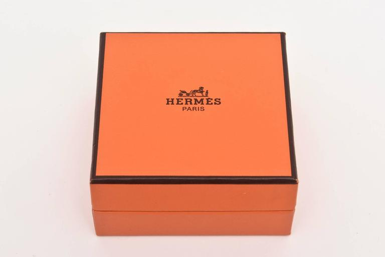 Hermes Stainless Steel Pendulette Clipper Travel or Desk Clock/  HOLIDAY SALE For Sale 4