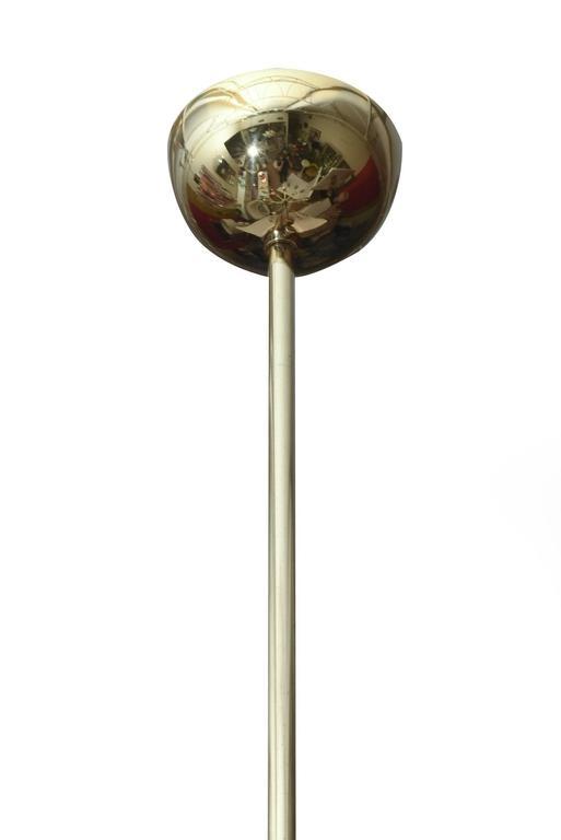 Italian Gaetano Sciolari Polished Brass and Crystal Prism Chandelier 3