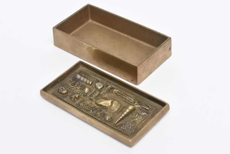 Signed Italian Arnaldo Pomodoro Bronze Sculptural Two-Part Box In Good Condition For Sale In North Miami, FL
