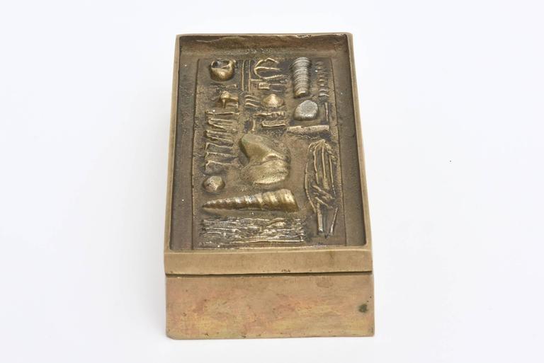 Signed Italian Arnaldo Pomodoro Bronze Sculptural Two-Part Box For Sale 2