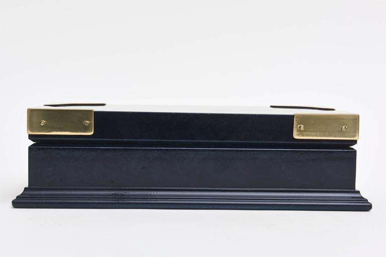 Modern Gucci Lacquered and Brass Hinged Box Vintage For Sale