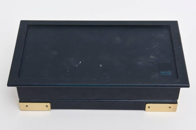 Gucci Lacquered and Brass Hinged Box Vintage For Sale 2