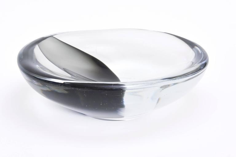 Italian Vintage Murano Antonio da Ros  Sommerso Sculptural Glass Bowl  In Excellent Condition For Sale In North Miami, FL