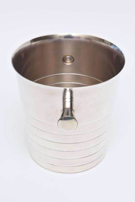 Late 20th Century Vintage Christofle Silver Plate Champagne / Ice Bucket/ Wine Cooler For Sale
