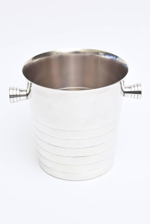 Modern Vintage Christofle Silver Plate Champagne / Ice Bucket/ Wine Cooler For Sale