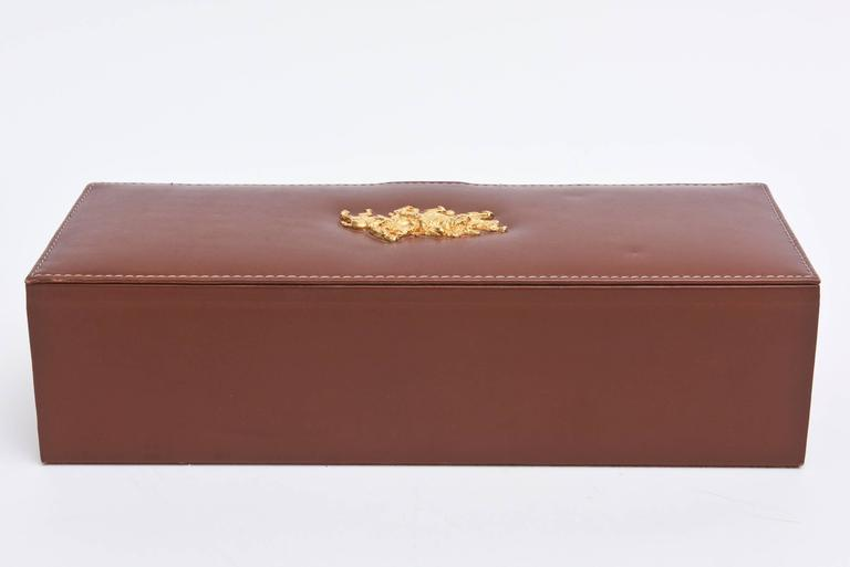 Super Ralph Lauren Leather and Gold-Plated Polo Watch Box For Sale at  LL95