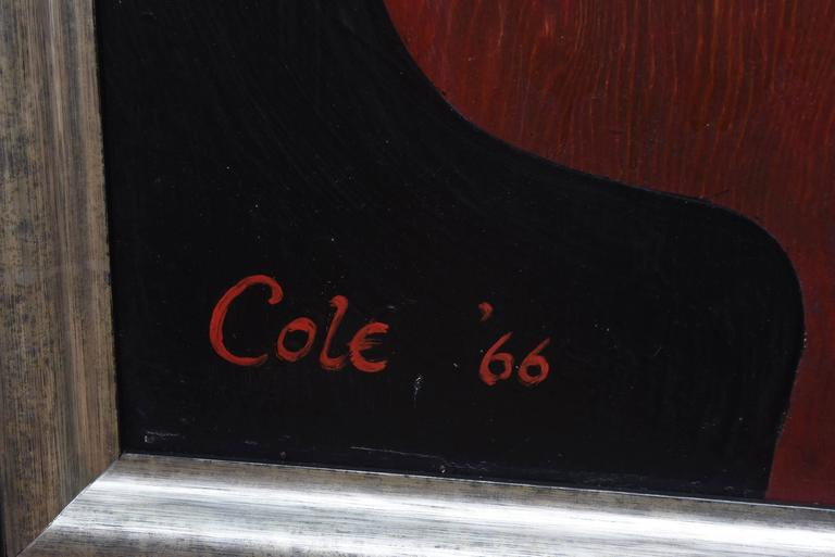 Natalie Cole Signed Oil on Board Painting