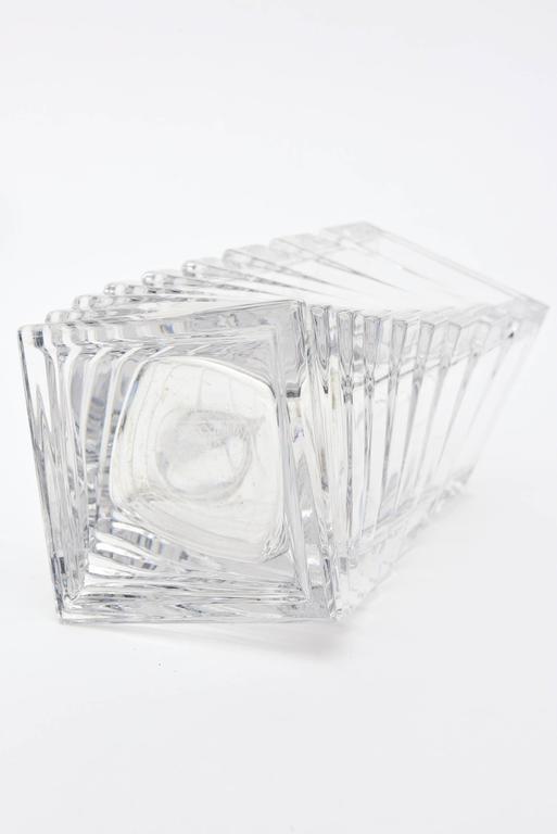 Rosenthal Mid-Century Modern Twisted Glass Sculptural Vase Vintage For Sale 2