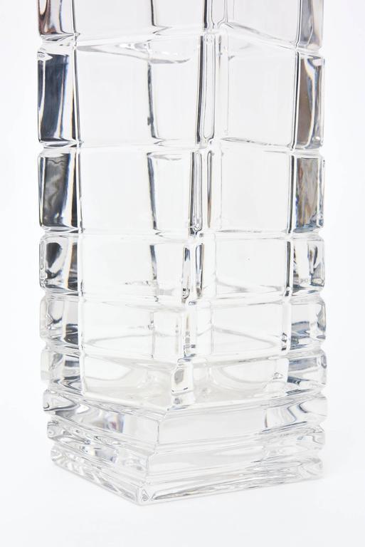 Rosenthal Mid-Century Modern Twisted Glass Sculptural Vase Vintage For Sale 3