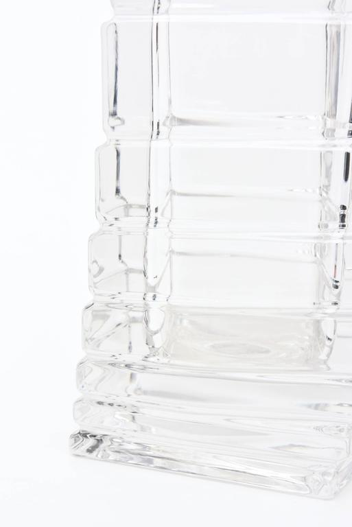Rosenthal Mid-Century Modern Twisted Glass Sculptural Vase Vintage For Sale 5