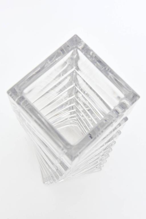 Rosenthal Mid-Century Modern Twisted Glass Sculptural Vase Vintage For Sale 1