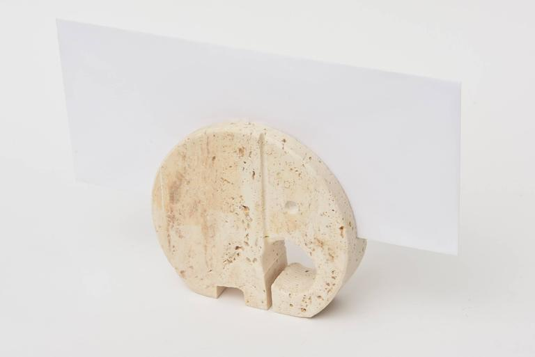 Italian Travertine Mid-Century Filli Mannelli Letter Holder / Desk Accessory  For Sale 1