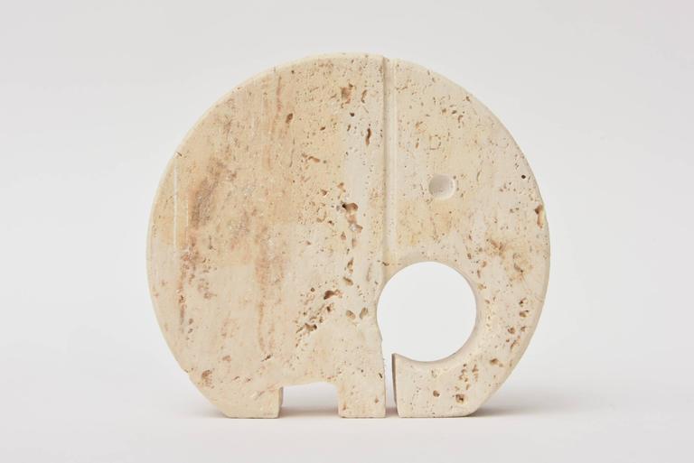 Italian Travertine Mid-Century Filli Mannelli Letter Holder / Desk Accessory  For Sale 4