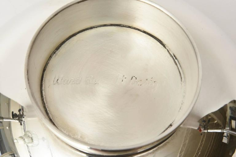 Ward Bennett Silver Plate Bowl Barware Vintage For Sale 2