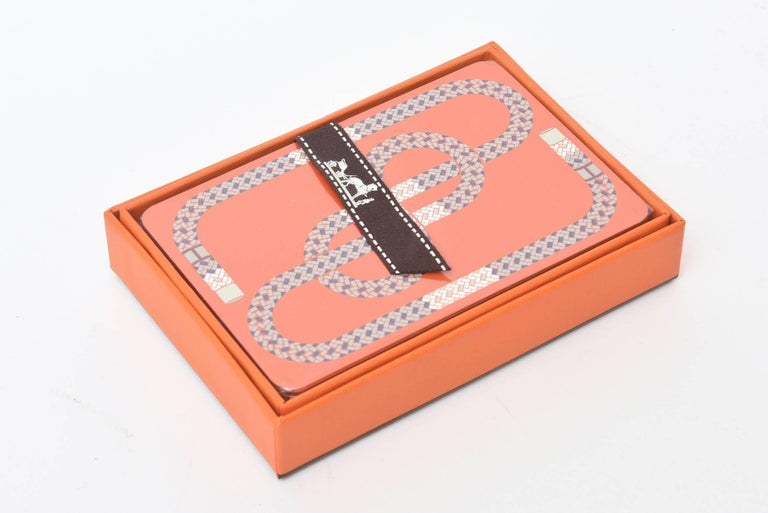 Late 20th Century Hermes Geometric Playing Cards  For Sale