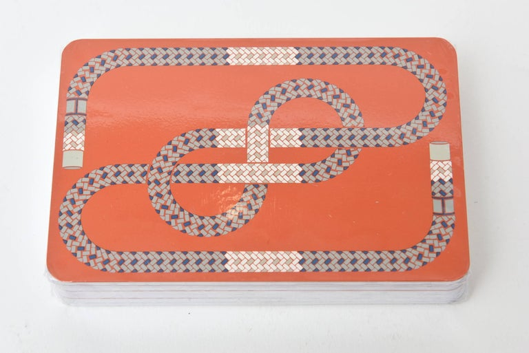 Paper Hermes Geometric Playing Cards  For Sale