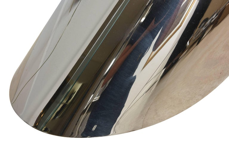 Zephyr J. Wade Beam for Brueton Stainless Steel Side Table For Sale 2