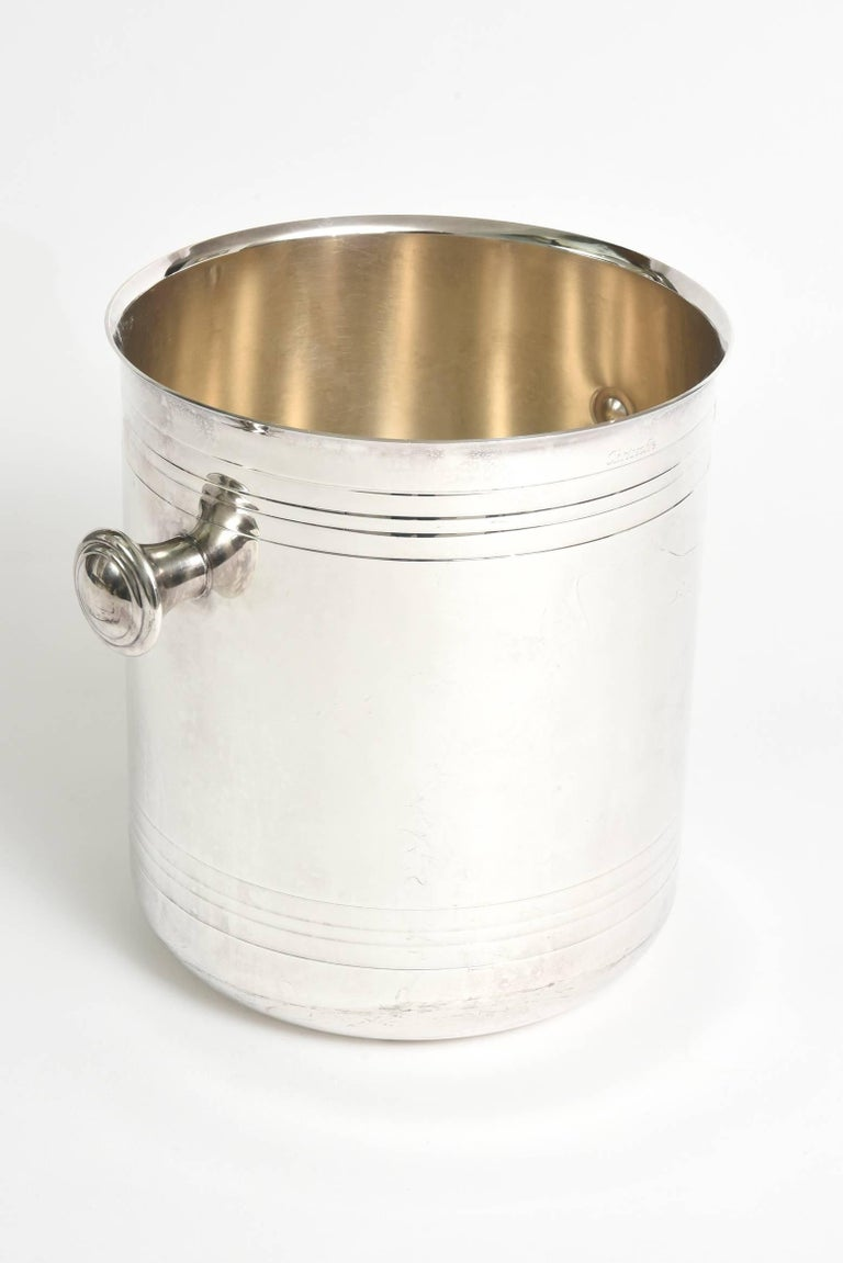 Modern Christofle Silver-Plate Champagne Cooler Ice Bucket  Barware For Sale