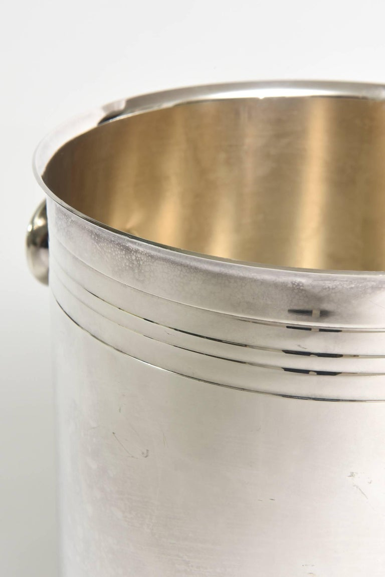 Silver Plate Christofle Silver-Plate Champagne Cooler Ice Bucket  Barware For Sale